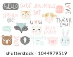 cute animals isolated... | Shutterstock .eps vector #1044979519