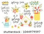 illustrations and lettering... | Shutterstock .eps vector #1044979597