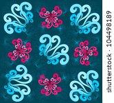 floral pattern | Shutterstock .eps vector #104498189