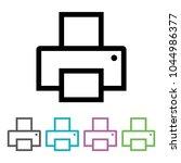printer icon vector eps10....
