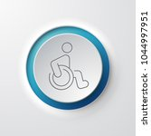 wheelchair web icon | Shutterstock .eps vector #1044997951