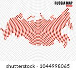 abstract russia map of radial... | Shutterstock .eps vector #1044998065