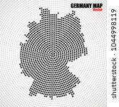 abstract germany map of radial... | Shutterstock .eps vector #1044998119