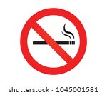 no smoking. dont smoke. sign... | Shutterstock .eps vector #1045001581