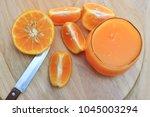 orange juice  fresh orange  on... | Shutterstock . vector #1045003294