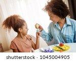 beautiful african american... | Shutterstock . vector #1045004905