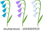 Vector Flat Bluebells Isolated