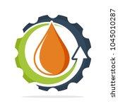 illustrated logo icon for... | Shutterstock .eps vector #1045010287