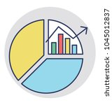 pie chart with bar graph in... | Shutterstock .eps vector #1045012837