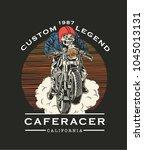 vector cafe racer illustration... | Shutterstock .eps vector #1045013131
