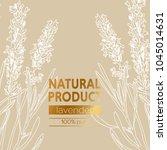 lavender vector natural hand... | Shutterstock .eps vector #1045014631