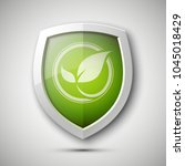 eco protect logo template... | Shutterstock . vector #1045018429