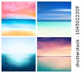 abstract vector nature blurred...   Shutterstock .eps vector #1045022209