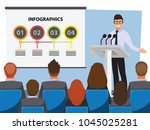 business people having board... | Shutterstock .eps vector #1045025281