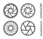 bicycle disc brake set. bike... | Shutterstock .eps vector #1045026589