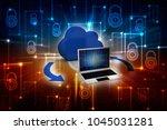 3d rendering cloud computing | Shutterstock . vector #1045031281
