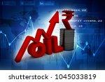 3d illustration oil price  oil... | Shutterstock . vector #1045033819