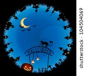 halloween theme illustration  ... | Shutterstock .eps vector #104504069