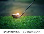 Blurred Golf Club And Golf Bal...