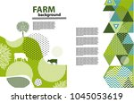 agricultural brochure layout... | Shutterstock .eps vector #1045053619