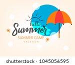 summer season banner or flyer... | Shutterstock .eps vector #1045056595