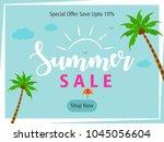 summer season banner or flyer...   Shutterstock .eps vector #1045056604