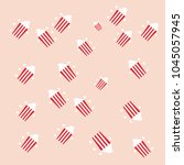 popcorn background   vector... | Shutterstock .eps vector #1045057945