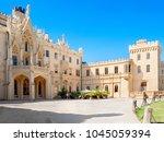 lednice  south moravian region  ... | Shutterstock . vector #1045059394