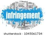 infringement word cloud concept ... | Shutterstock . vector #1045061734