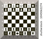 top view chessboard. vector... | Shutterstock .eps vector #1045062274