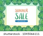 summer sale background banner... | Shutterstock .eps vector #1045066111