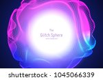 vector abstract sphere of...