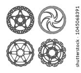 bicycle disc brake set. bike... | Shutterstock .eps vector #1045068391
