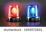 red  and blue flashers siren... | Shutterstock .eps vector #1045072831