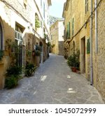 valldemossa  islas baleares in... | Shutterstock . vector #1045072999