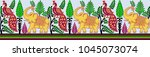 seamless animal border | Shutterstock . vector #1045073074