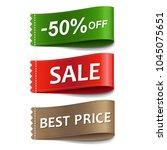 sale labels set  | Shutterstock . vector #1045075651