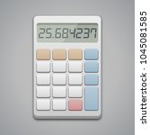 calculator icon  vector... | Shutterstock .eps vector #1045081585