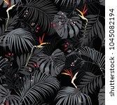 beautiful artistic dark summer... | Shutterstock .eps vector #1045082194