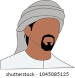 emirate man icon  arab man icon  | Shutterstock .eps vector #1045085125
