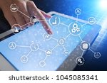 automation and iot  internet of ... | Shutterstock . vector #1045085341