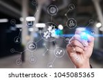 integration concept. industrial ... | Shutterstock . vector #1045085365