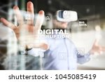 digital disruption  future... | Shutterstock . vector #1045085419