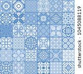 patchwork seamless pattern ...   Shutterstock .eps vector #1045088119