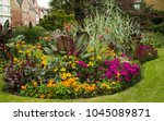 Colorful Flower Bed In Park...