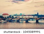 city of prague in the summer....   Shutterstock . vector #1045089991