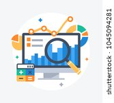 flat design modern vector... | Shutterstock .eps vector #1045094281