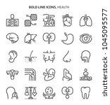 health  bold line icons. the... | Shutterstock .eps vector #1045095577