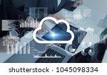 cloud computing concept. | Shutterstock . vector #1045098334