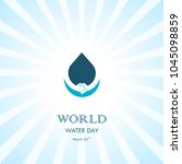 water drop with human hand... | Shutterstock .eps vector #1045098859